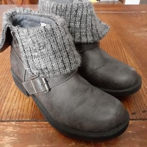 Falls creek leather knit boot